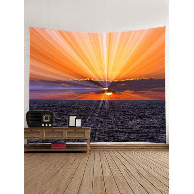 Sunrise Over The Sea Print Tapestry Wall Hanging ArtBlankets &amp; Throws<br>Sunrise Over The Sea Print Tapestry Wall Hanging Art<br><br>Feature: Washable<br>Material: Polyester<br>Package Contents: 1 x Tapestry<br>Shape/Pattern: Print<br>Style: Natural<br>Theme: Beach Theme<br>Weight: 0.4000kg