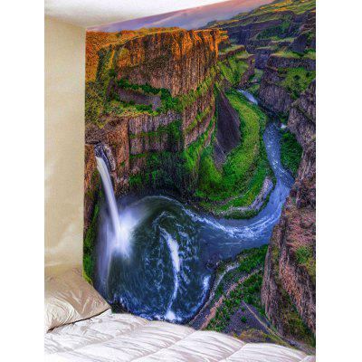 Mountain Waterfall Stream Print Wall Hanging Tapestry