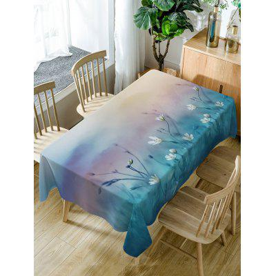 Floral Print Fabric Waterproof Table Cloth