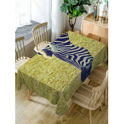 Zebra Print Fabric Waterproof Table Cloth