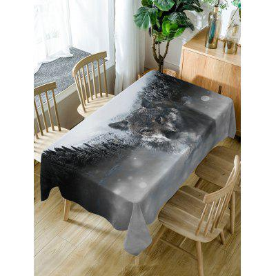 Wolf Print Fabric Waterproof Table Cloth