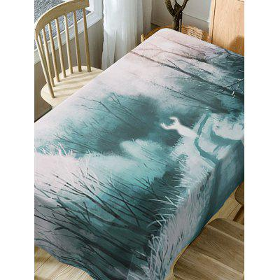 Forest Deer Print Fabric Waterproof Table ClothTable Accessories<br>Forest Deer Print Fabric Waterproof Table Cloth<br><br>Material: Polyester<br>Package Contents: 1 x Table Cloth<br>Pattern Type: Animal, Forest<br>Type: Table Cloth<br>Weight: 0.5900kg