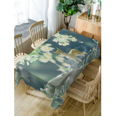 Deer Print Fabric Waterproof Table Cloth