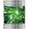 Forest Bamboos Sunlight Print Tapestry - GREEN