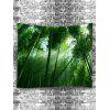 Sunlight Through the Bamboo Forest Print Tapestry - GREEN