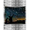 Night Sky Stars Constellations Print Tapestry - BLACK
