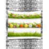 Three Layers Grasslands with Eggs Flowers Print Tapestry - GREEN