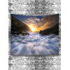 Rapid Stream Sunrise Print Wall Hanging Tapestry - WHITE