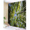 Forest Sky Print Tapestry Wall Hanging Art Decoration - GREEN