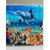 Underwater World Dolphin Print Shower Curtain - COLORMIX