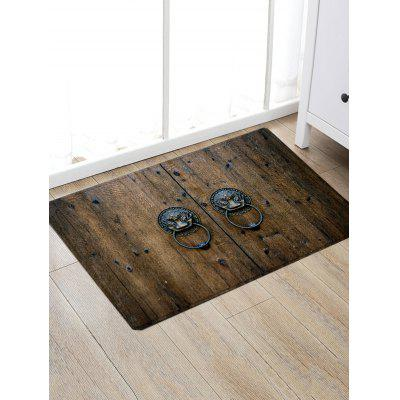 Vintage Knocker Wood Door Print Anti-skid Floor RugBlankets &amp; Throws<br>Vintage Knocker Wood Door Print Anti-skid Floor Rug<br><br>Materials: Flannel<br>Package Contents: 1 x Rug<br>Pattern: Print<br>Products Type: Bath rugs<br>Shape: Rectangle<br>Style: Vintage