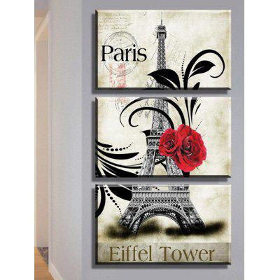Eiffel Tower Rose Paris Print Wall Art Canvas Paintings - $7.80 Free ...