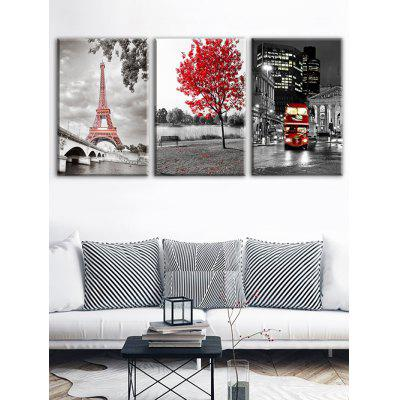 Eiffel Tower Paris Street Print Unframed Canvas PaintingsPrints<br>Eiffel Tower Paris Street Print Unframed Canvas Paintings<br><br>Features: Decorative<br>Form: Three Panels<br>Frame: No<br>Hang In/Stick On: Bedrooms,Cafes,Hotels,Kitchen,Living Rooms,Lobby,Nurseries,Offices<br>Material: Canvas<br>Package Contents: 3 x Canvas Paintings (Pcs)<br>Product Type: Art Print<br>Style: Romantic<br>Subjects: Romance