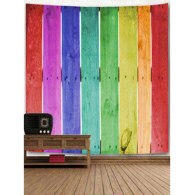 Rainbow Wood Plank Print Wall Hanging TapestryBlankets &amp; Throws<br>Rainbow Wood Plank Print Wall Hanging Tapestry<br><br>Feature: Removable, Washable<br>Material: Polyester<br>Package Contents: 1 x Tapestry<br>Shape/Pattern: Wood<br>Style: Fashion<br>Weight: 0.3200kg