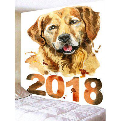 2018 Dog Printed Wall Hanging TapestryBlankets &amp; Throws<br>2018 Dog Printed Wall Hanging Tapestry<br><br>Feature: Removable, Washable<br>Material: Polyester<br>Package Contents: 1 x Tapestry<br>Shape/Pattern: Animal<br>Style: Cute<br>Weight: 0.4200kg