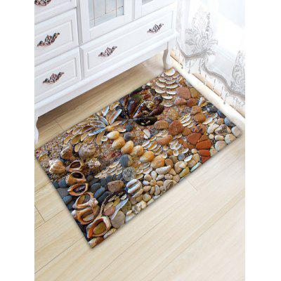 Stone Shell Print Indoor Outdoor Area Rug