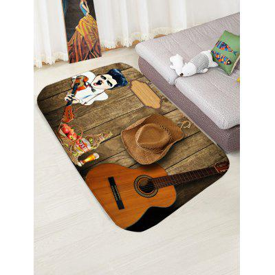 Guitarist Print Indoor Outdoor Area RugBlankets &amp; Throws<br>Guitarist Print Indoor Outdoor Area Rug<br><br>Materials: Flannel<br>Package Contents: 1 x Rug<br>Pattern: Wood Grain<br>Products Type: Bath rugs<br>Style: Trendy