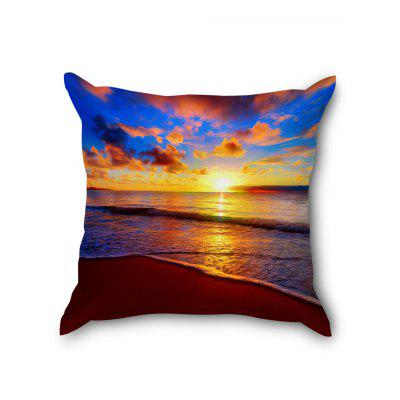 Sunset Glow Sea Print Square Pillow CasePillow<br>Sunset Glow Sea Print Square Pillow Case<br><br>Material: Linen<br>Package Contents: 1 x Pillowcase<br>Pattern: Other<br>Shape: Square<br>Style: Natural<br>Weight: 0.0700kg