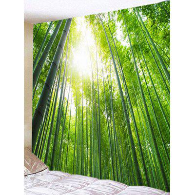 Bamboo Forest Print Tapestry Wall Hanging Decor