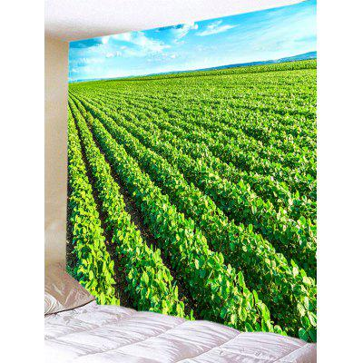Buy Tea Plantation Print Tapestry Wall Hanging Decor GREEN for $16.87 in GearBest store