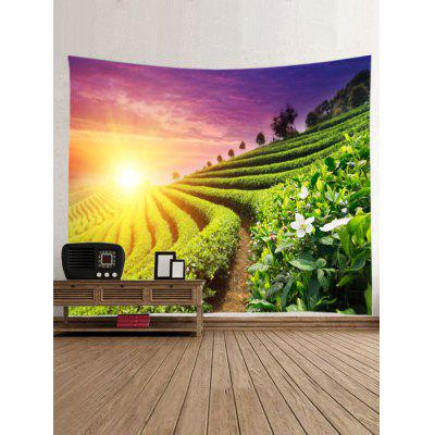 Sunset Tea Garden Print Tapestry Wall Hanging DecorBlankets &amp; Throws<br>Sunset Tea Garden Print Tapestry Wall Hanging Decor<br><br>Feature: Removable, Washable<br>Material: Polyester<br>Package Contents: 1 x Tapestry<br>Shape/Pattern: Plant<br>Style: Natural<br>Theme: Landscape<br>Weight: 0.4000kg