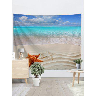 Beach Starfishes Printed TapestryBlankets &amp; Throws<br>Beach Starfishes Printed Tapestry<br><br>Feature: Removable<br>Material: Polyester<br>Package Contents: 1 x Tapestry<br>Shape/Pattern: Print,Water<br>Style: Natural<br>Theme: Landscape<br>Weight: 0.2700kg