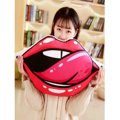Lip Shape Soft Throw Pillow