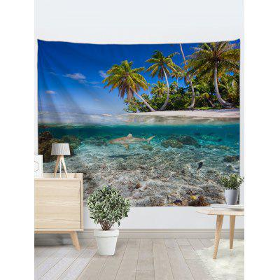 Seaside Coconut Tree Printed Wall TapestryBlankets &amp; Throws<br>Seaside Coconut Tree Printed Wall Tapestry<br><br>Feature: Removable<br>Material: Polyester<br>Package Contents: 1 x Tapestry<br>Shape/Pattern: Plant,Tree<br>Style: Natural<br>Theme: Landscape<br>Weight: 0.2100kg