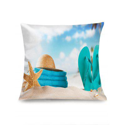Summer Beach Pattern Sofa PillowcasePillow<br>Summer Beach Pattern Sofa Pillowcase<br><br>Material: Linen<br>Package Contents: 1 x Pillowcase<br>Pattern: Other<br>Shape: Square<br>Style: Modern/Contemporary<br>Weight: 0.0700kg