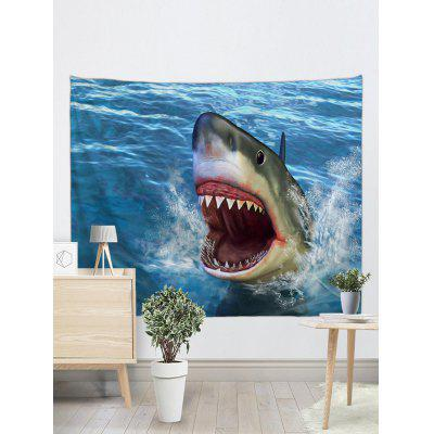 Shark Printed Wall Hanging TapestryBlankets &amp; Throws<br>Shark Printed Wall Hanging Tapestry<br><br>Feature: Removable<br>Material: Polyester<br>Package Contents: 1 x Tapestry<br>Shape/Pattern: Animal<br>Style: Natural<br>Theme: Animals<br>Weight: 0.1800kg