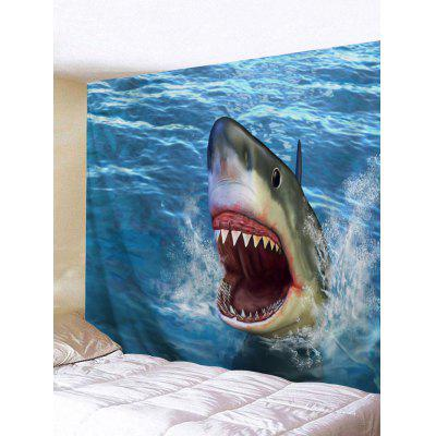 Buy Shark Printed Wall Hanging Tapestry COLORMIX for $16.45 in GearBest store