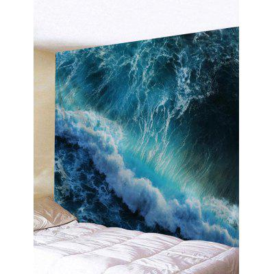 Huge Sea Waves Printed Wall Art Tapestry