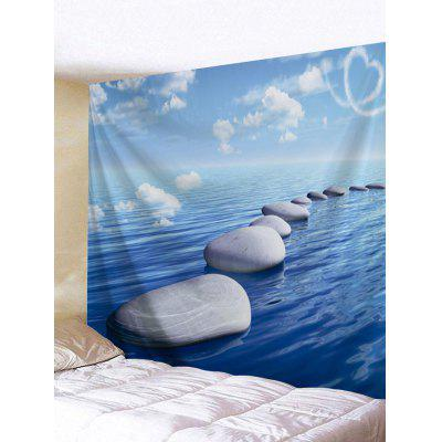 Stones on the Sea Printed Tapestry Wall Art
