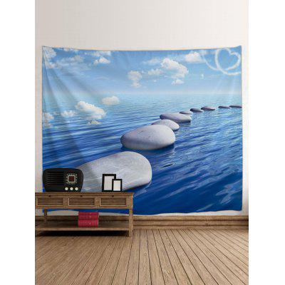 Stones on the Sea Printed Tapestry Wall ArtBlankets &amp; Throws<br>Stones on the Sea Printed Tapestry Wall Art<br><br>Feature: Removable<br>Material: Polyester<br>Package Contents: 1 x Tapestry<br>Shape/Pattern: Water<br>Style: Natural<br>Theme: Landscape<br>Weight: 0.1800kg