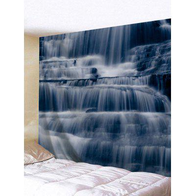 Layered Mountain Waterfalls Printed Wall Art Tapestry
