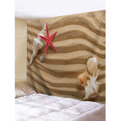 Plaja Starfish Conch Print Wall Tapestry