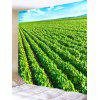 Tea Plantation Print Tapestry Wall Hanging Decor - GREEN