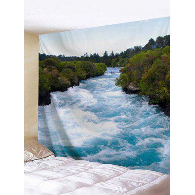 Turbulent River Print Tapestry
