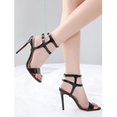 High Heel Ankle Wrap SandalsWomens Sandals<br>High Heel Ankle Wrap Sandals<br><br>Closure Type: Buckle Strap<br>Gender: For Women<br>Heel Height: 11.5CM<br>Heel Height Range: Super High(Above4)<br>Heel Type: Stiletto Heel<br>Occasion: Wedding<br>Package Contents: 1 x Sandals (pair)<br>Pattern Type: Others<br>Sandals Style: Ankle Strap<br>Shoe Width: Medium(B/M)<br>Style: Fashion<br>Upper Material: PU<br>Weight: 1.5000kg