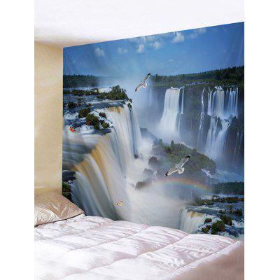3D Mountains Waterfalls Landscape Printed Wall Tapestry