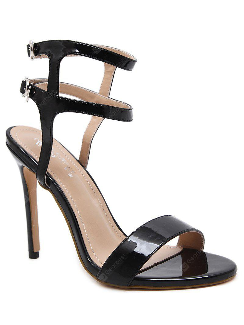 High Heel Ankle Wrap Sandals