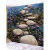 3D Stream Stones Print Tapestry - COLORMIX