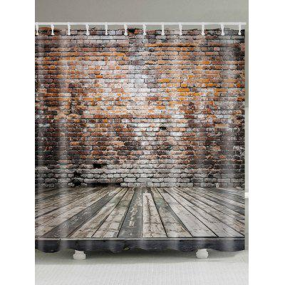 Bricks Wall Floor Print Shower Curtain