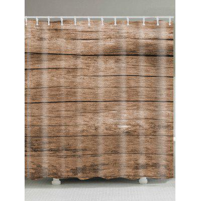 Vintage Wood Grain Print Shower Curtain