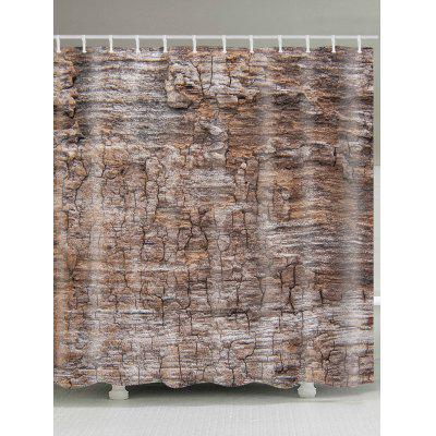 Tree Bark Pattern Waterproof Bath Curtain