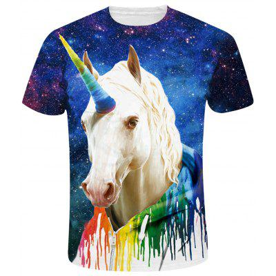 Camiseta Galaxy 3D Unicorn Print