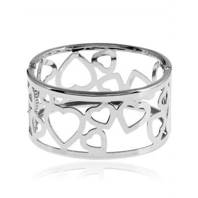 Alloy Heart Bangle Bracelet