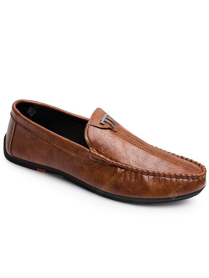 Casual Slip On Stitches Loafers