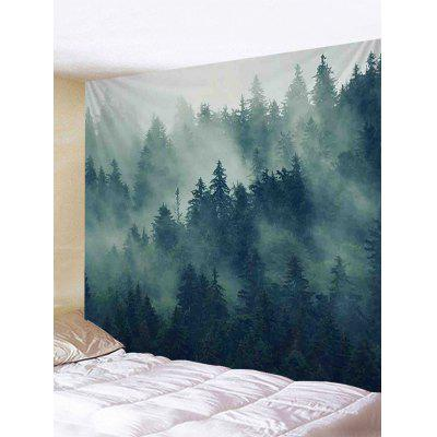 Forest Morning Fog Print Wall Hanging Tapestry