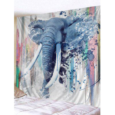 Watercolor Elephant Print Tapestry Wall Hanging Decor